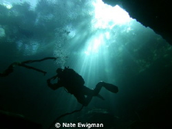 North Florida cave diver; ISO: 64, f/2.8, Exp: 1/164 by Nate Ewigman 